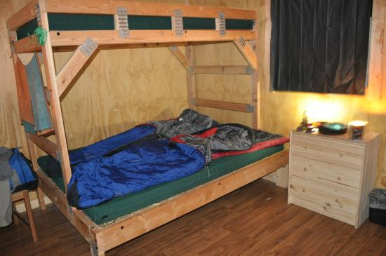 Bed picture of headwaters lodge cabins at flagg ranch for Headwaters cabins gran teton recensioni