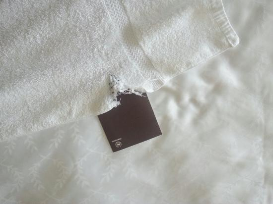 Sheraton Ontario Airport Hotel: Ripped bath towel taken off the rack..
