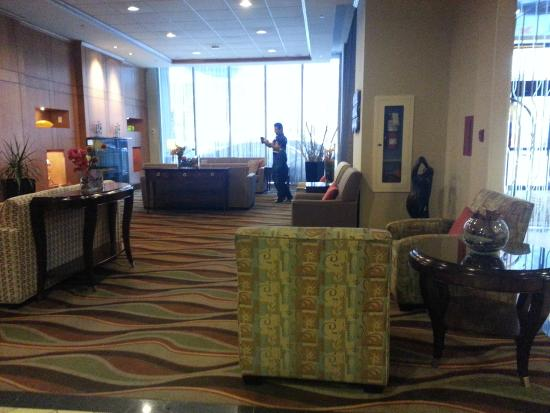 Seating Area In Lobby At Hilton Garden Inn Montreal Centre Ville