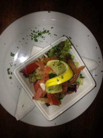 Sullivans Bar: Smoked salmon with capers
