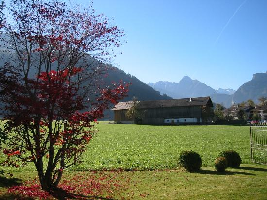 THERESA Wellness Geniesser Hotel: view from the garden down the valley