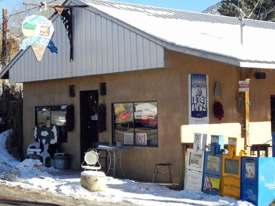 Taos Cow : Front of Restaurant