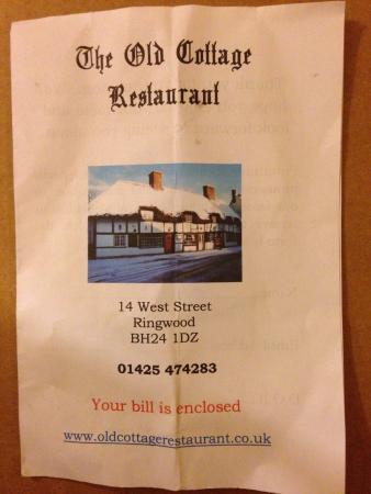 The Old Cottage Restaurant: Contact details