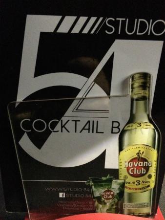 Studio 54 Cocktails & Pintxos Bar: carte