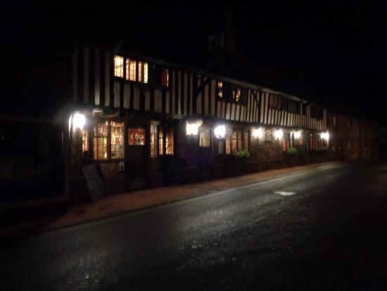 George Inn: Street view at night