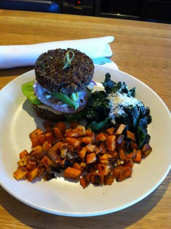 Inside Out Quinoa Burger 1 - Picture of True Food Kitchen, Houston ...