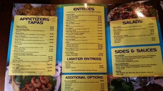 Slim and Shorty's: Main menu.