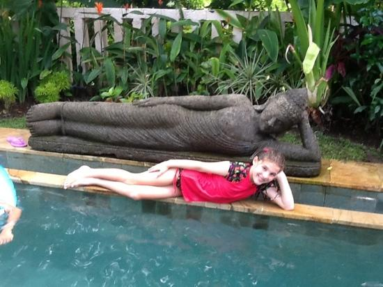 Lily Lane Villas: Nellie enjoying the pool in Villa 5!