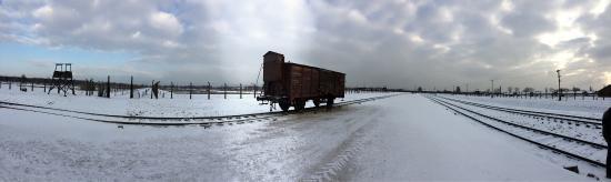 Oswiecim, Polonya: Vagão do museu, que traziam os judeus para os campos de concentração...