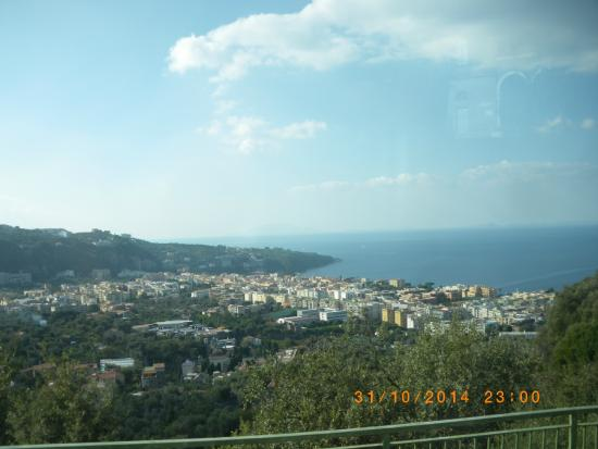 Le Colline di Sorrento: the view overlooking Sorrento and the coast