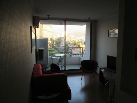 Apartamentos Capital: living
