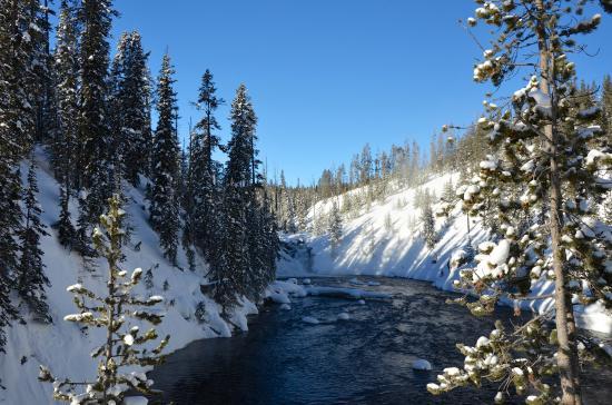 Old Faithful Snowmobile Tours - Day Tours: Lewis falls, Yellowstone