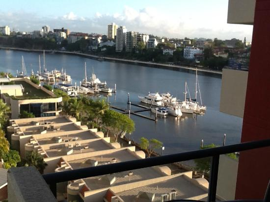 Central Dockside Apartments: view from a level nine apartment