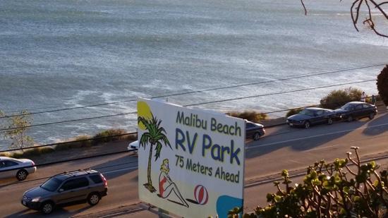 Malibu Beach RV Park: the entrance of the park