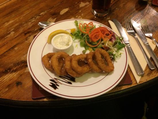The Barford Inn: Calamari starter.