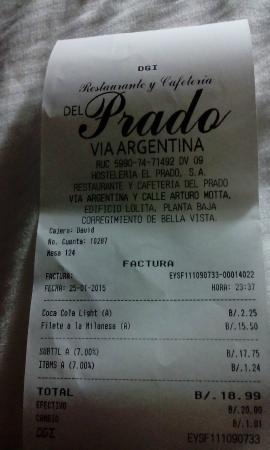 Restaurante y Cafeteria Del Prado: filete empanado con mas nervios que un dia de estreno