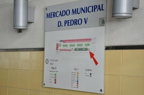 Map of the Market  Picture of Mercado Municipal D Pedro V