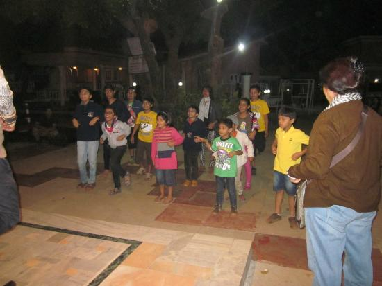 The Byke Heritage - Matheran: Childrens enjoying games organized by Hotel