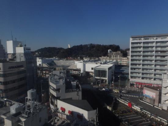 Sotetsu Fresa Inn Kamakura Ofuna: 9階からの眺望。観音様の後ろ姿が・・。