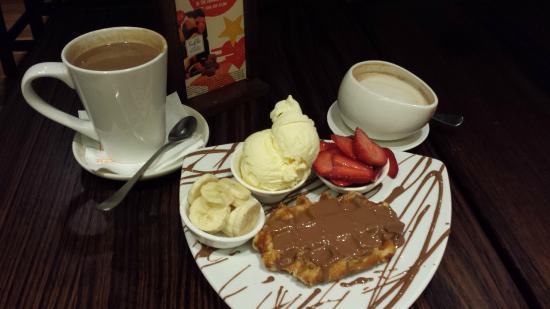Max Brenner Chocolate Bar: Waffle incomparável!