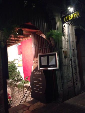 Restaurant Curiosa: L'entrée donne déjà envie d'aller plus loin ...