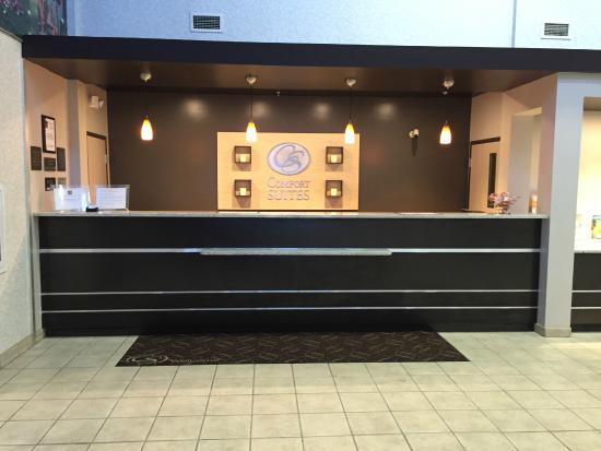 Comfort Suites - Columbus / Clara St: Front Desk