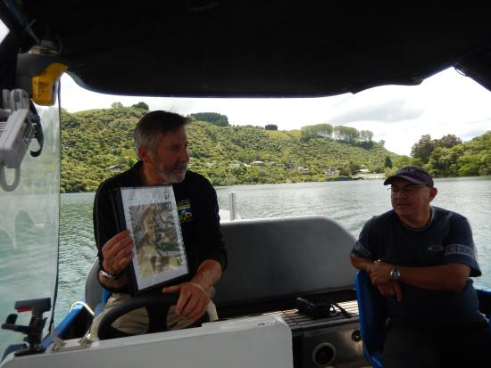 Totally Tarawera: Our learned guide Dave
