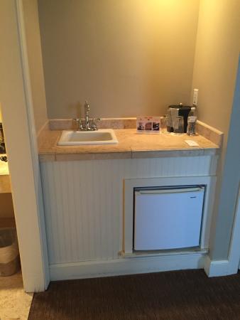Eldridge Hotel: Separate sink/fridge