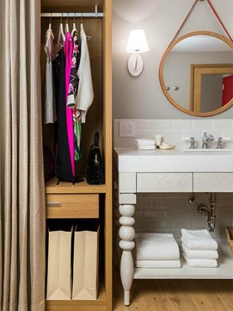 Virgin Hotels Chicago: Find A Space For It All With A Poliform Closet,  Washbasin