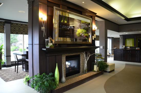 Lobby Fireplace Picture Of Hilton Garden Inn Austin