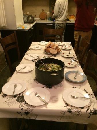 Nest Hostel Tbilisi: Big dinner! =)