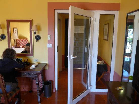 Hotel El Convento: added doors in front of front door