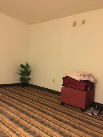 Visalia Sequoia Inn & Suites: the other lonely corner in the bedroom area.