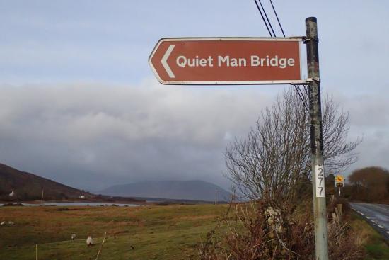 Quiet Man Bridge: Turn at this sign