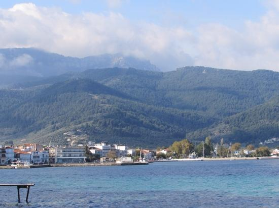 Villa Eden: Thassos from the ferry boat