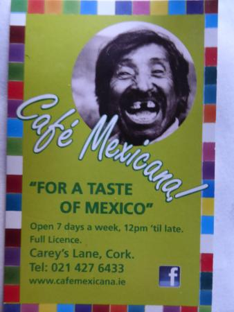 Cafe Mexicana: A happy diner!