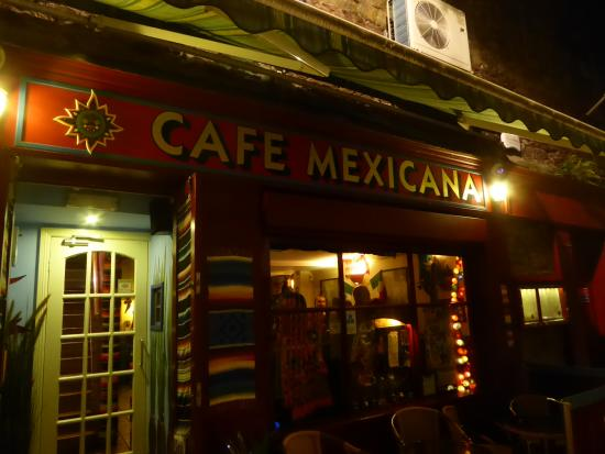 Cafe Mexicana: Warm, inviting external atmosphere mirroring what's inside.