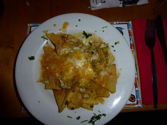 Cafe Mexicana: 3 Star Michelin Jalapeno nachos.  Spicy!!  Unbelievably wonderful.