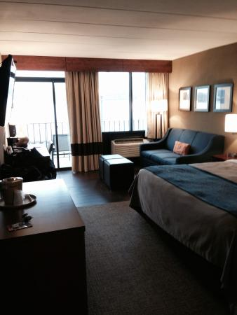 Comfort Inn: Hotel room facing Hudson River