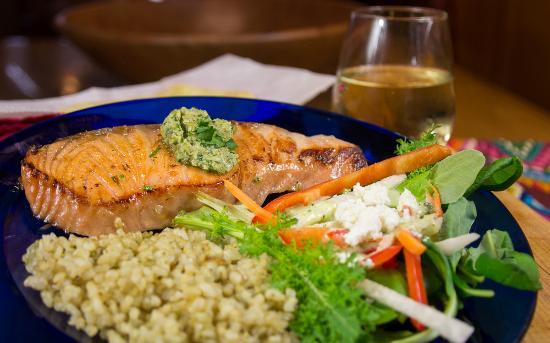 La Cocina de Luz: Chile cured salmon with cilantro butter.