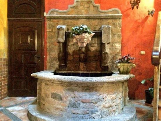 Aparthotel Plaza y Colonial: Water Fountain inside