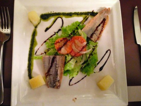 Au Saint Benoit: Herring with a spirit (in French).