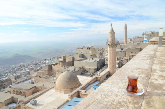 Reyhani Kasri Hotel: View from the terrace of the restaurant