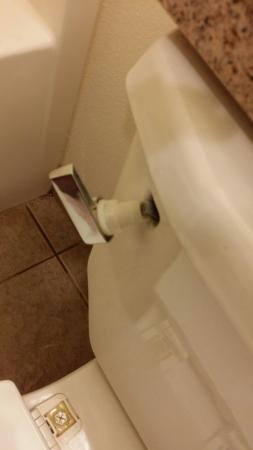 Microtel Inn & Suites by Wyndham Indianapolis Airport : Broke toilet.
