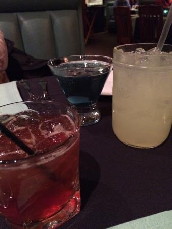 The Grist Mill and One Up Bar: A martini (my wife loved it), a rum drink (very strong) and a lemonade