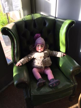 The Higgins Pantry: Our daughter enjoying the throne