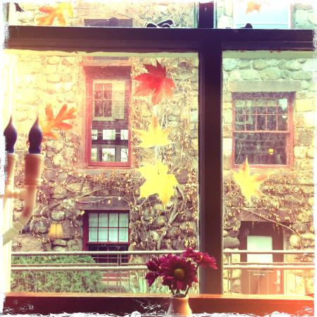 art cafe of nyack: View of the street from one window