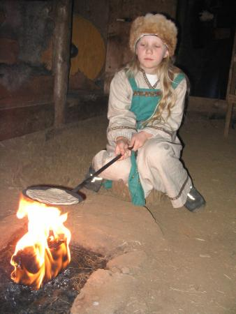 Eiriksstadir A Viking Child Baking Bread