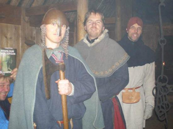 Eiriksstadir: Three good looking vikings.