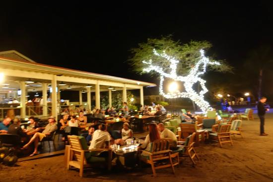 Lava Beach Club Beautiful Night Time Setting